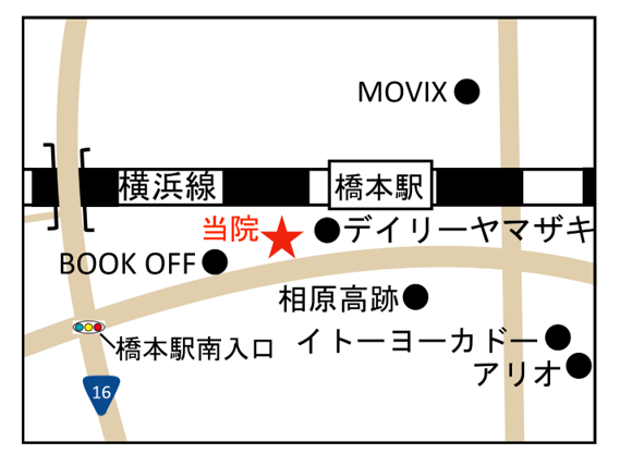 神奈川県 巻き爪 橋本 地図